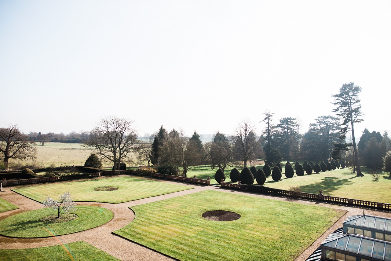 Beautiful view from the Bridal suite across the elvetham gardens