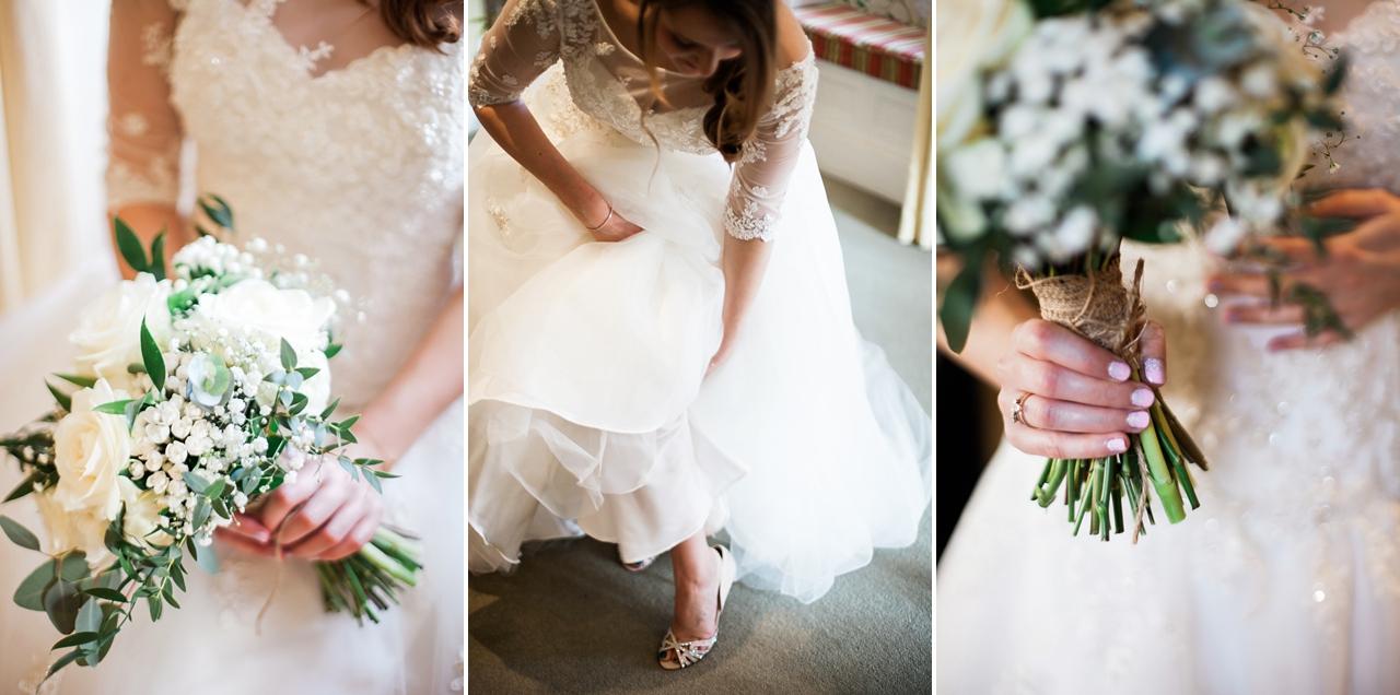Natural, simple candid bridal photos