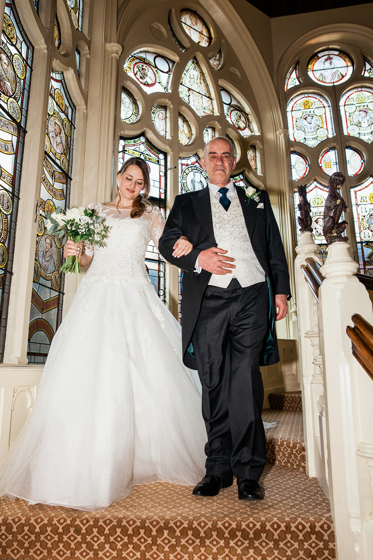 Proud father about to give his daughter away on her wedding day