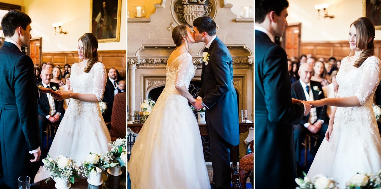 The wedding ceremony at the Elvetham