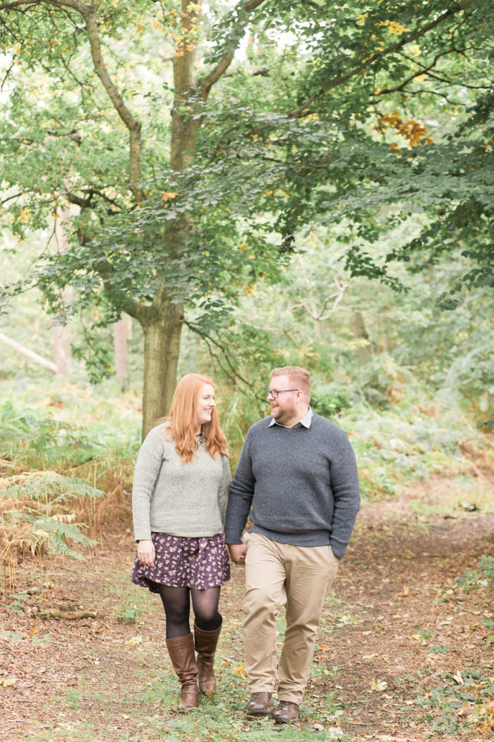 Woodland Engagement Shoot walking together