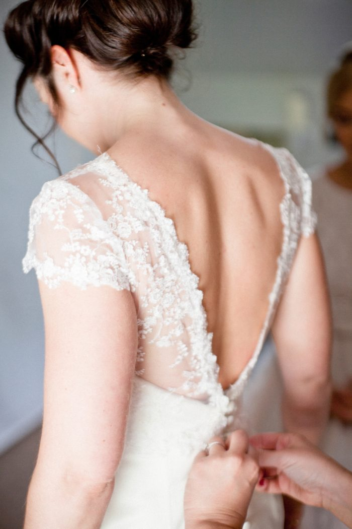 back of dress lace