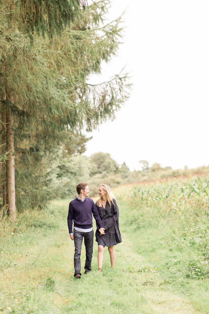 Woodland Engagement Shoot walking through field