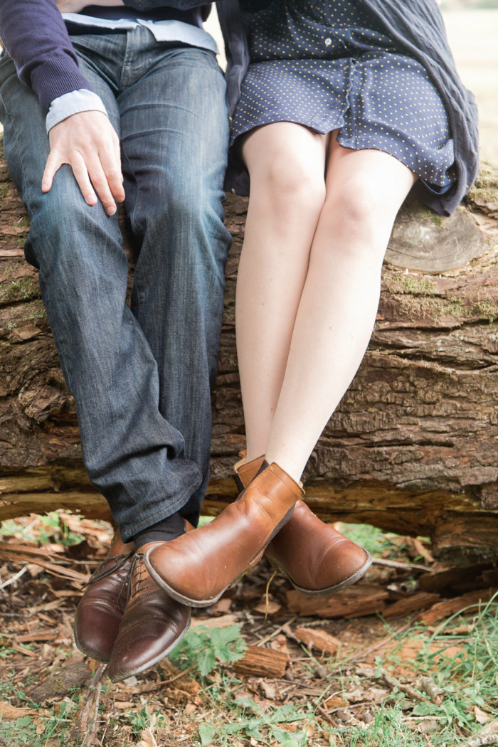 Woodland Engagement Shoot close up of feet