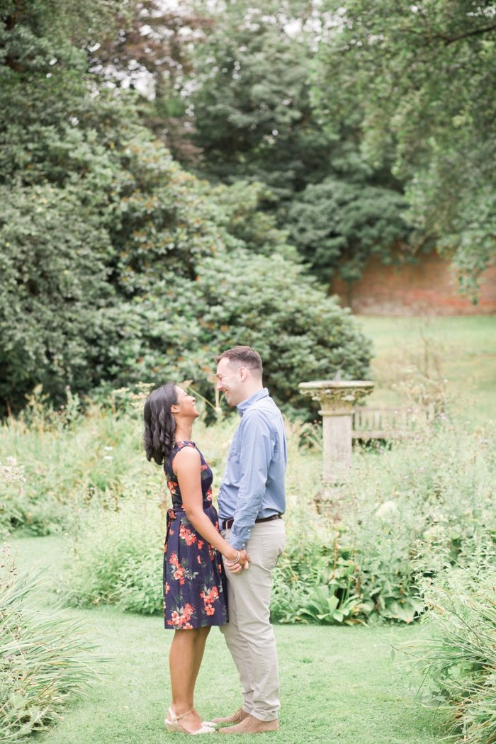 Engagement Shoot at The Elvetham summer hidden garden