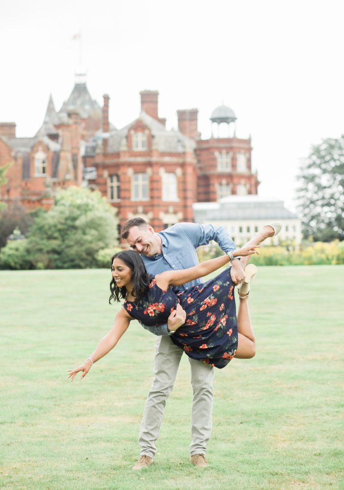 Engagement Shoot at The Elvetham summer ballerina