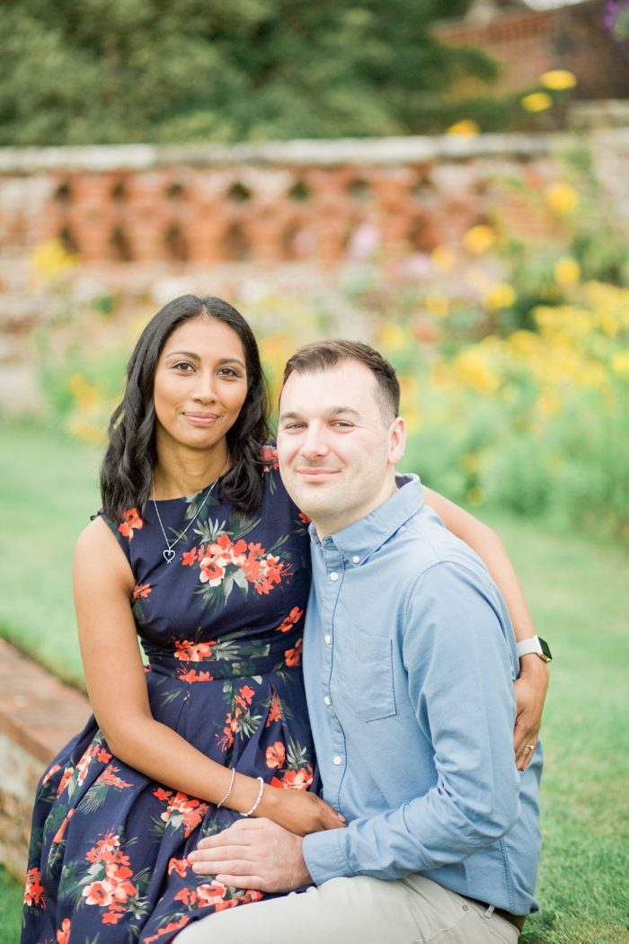 Engagement Shoot at The Elvetham summer couple portrait
