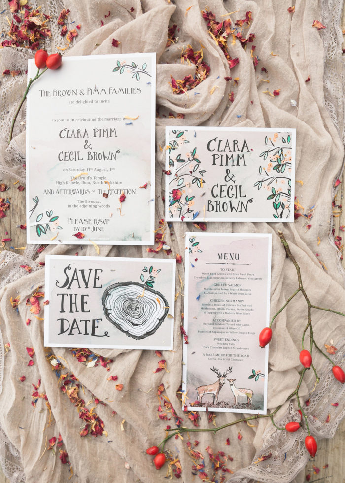 Fine Art Wedding Photography Styled Shoot Woodland Wedding Inspiration Autumn Lilybean Photography stationery