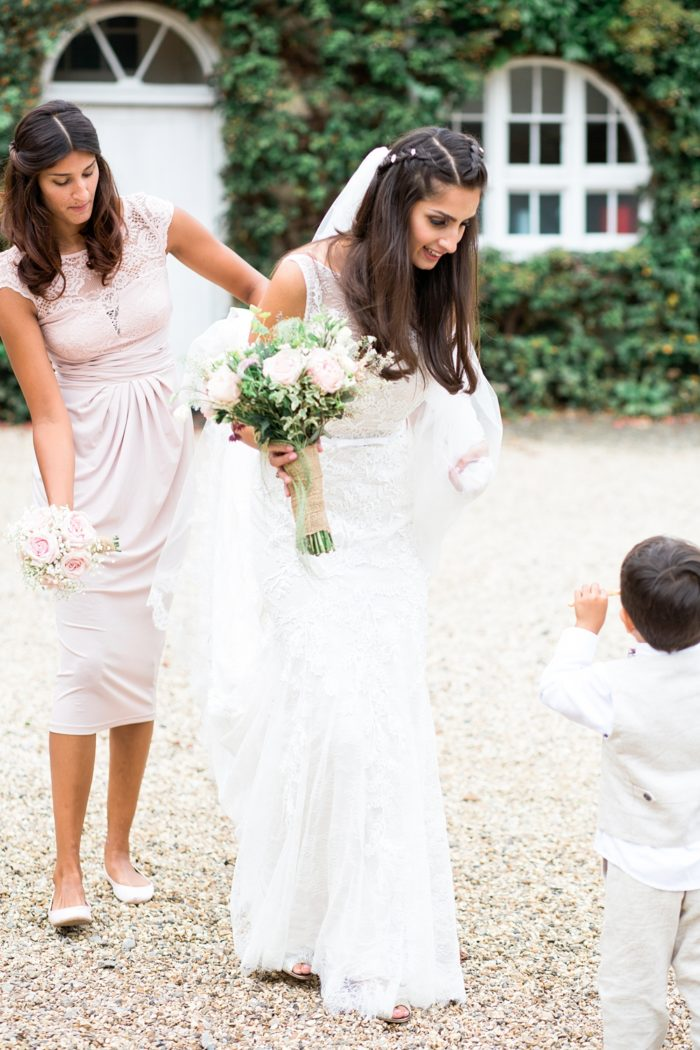 Fine Art Wedding Photography Northbrook Park Wedding Lilybean Photography bride and bridesmaid