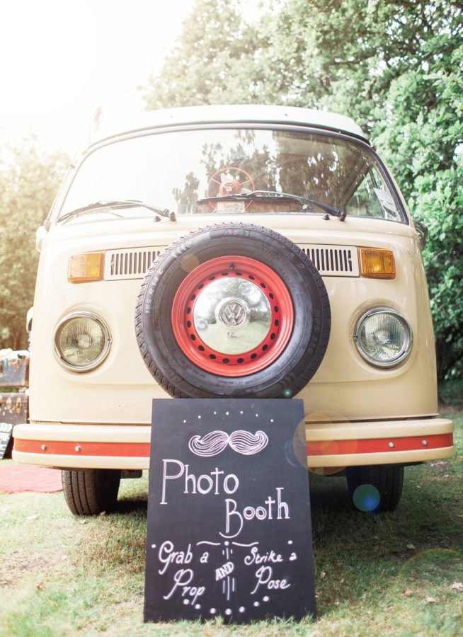 VW Camper Van Photobooth Booth Bus Hire sign