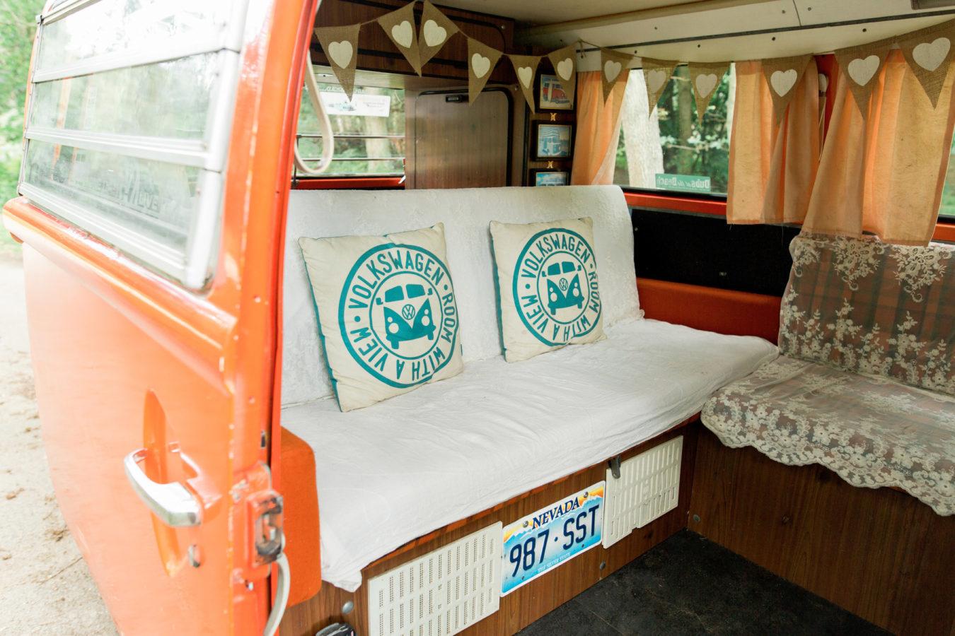 Wedding Hire VW Camper Van Wedding Transport interior