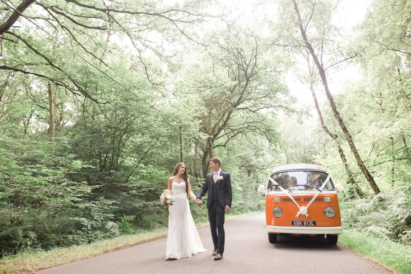Wedding Hire VW Camper Van Wedding Transport Bride & Groom