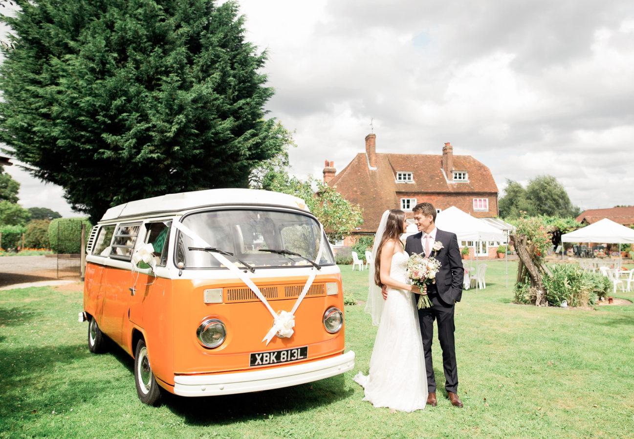 Wedding Hire VW Camper Van Wedding Transport at Taplins Place
