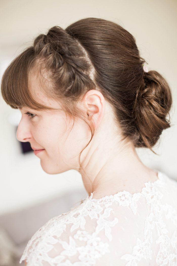 Fine Art Wedding Photography Rustic Barn Wedding Bridal hair