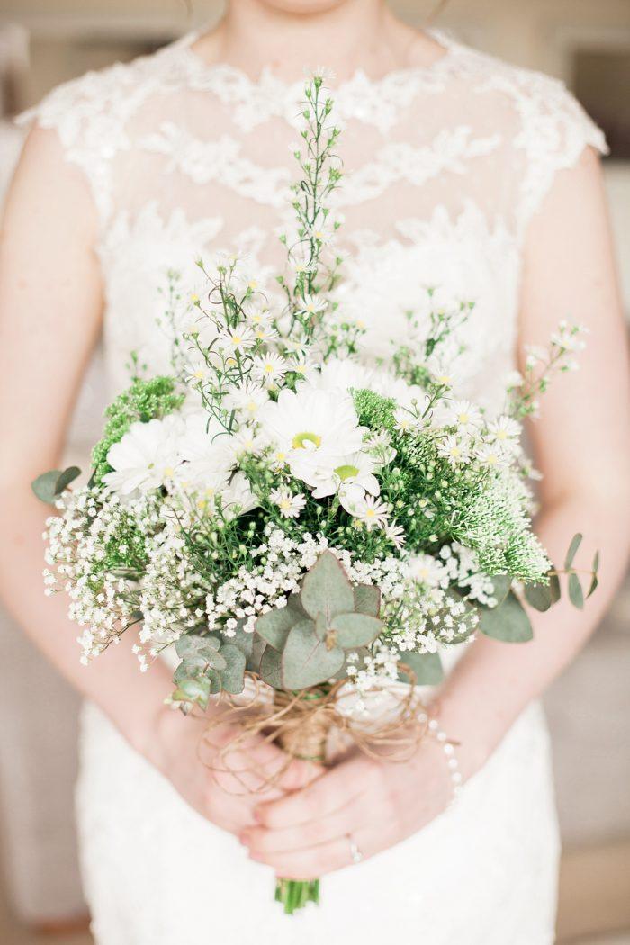 Fine Art Wedding Photography Rustic Barn Wedding meadow flower bouquet