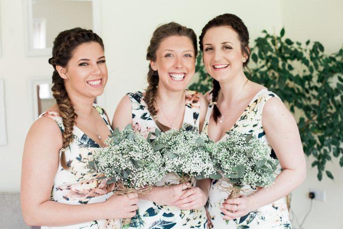 Fine Art Wedding Photography Rustic Barn Wedding bridesmaids together