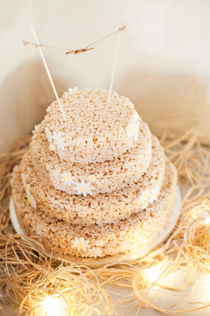 Fine Art Wedding Photography Rustic Barn Wedding rice crispy cake