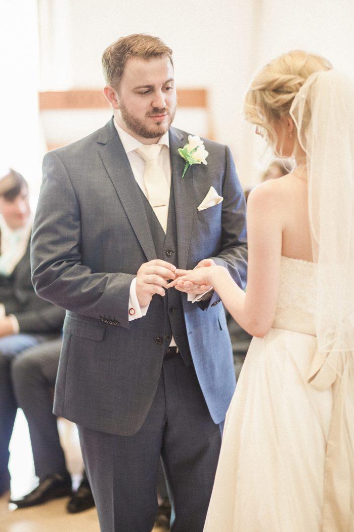 Fine Art Wedding Photography Beautiful Country Wedding exchange of rings