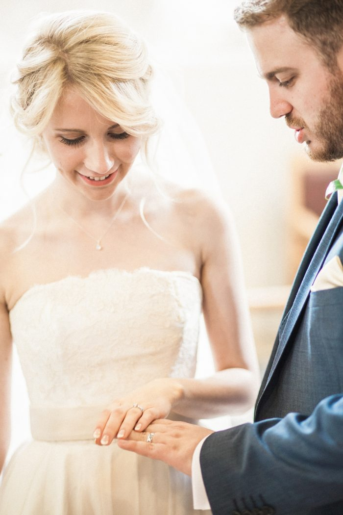 Fine Art Wedding Photography Beautiful Country Wedding rings close up