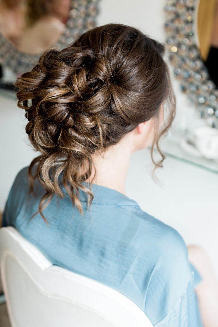Rivervale Barn wedding photography bridal hair
