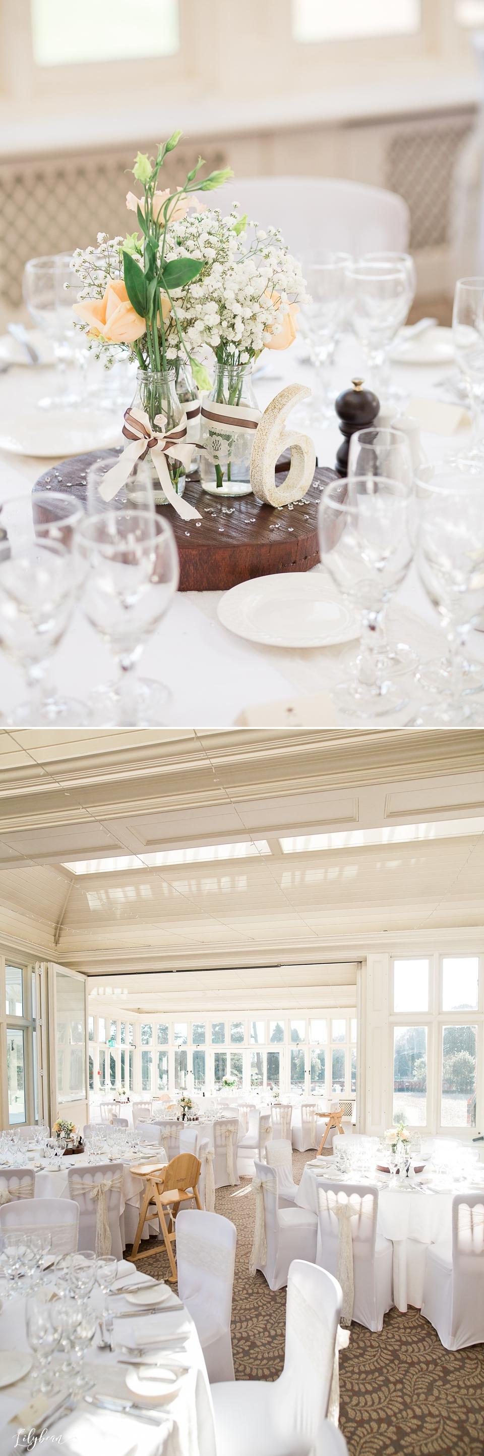 The Elvetham conservatory wedding breakfast decor