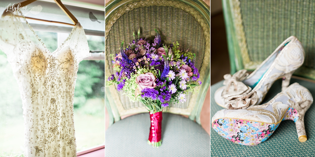 beautiful bridal details, shoes, meadow flowers and shoes