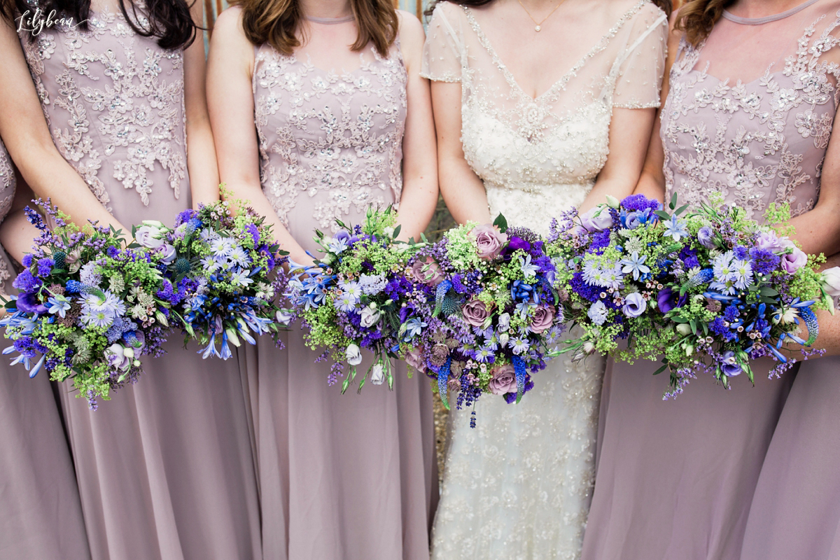 Bridal bouquets of meadow flowers