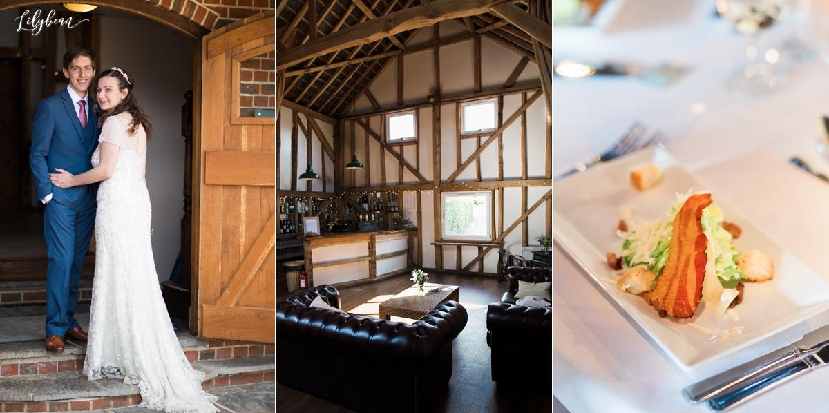 Pitt hall barn interior and wedding breakfast