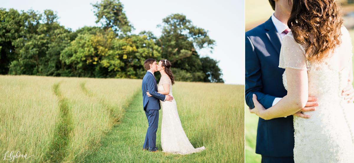 Meadow field shot of Bride & Groom