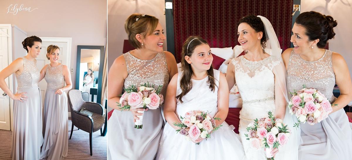 bridal prep and bridesmaids