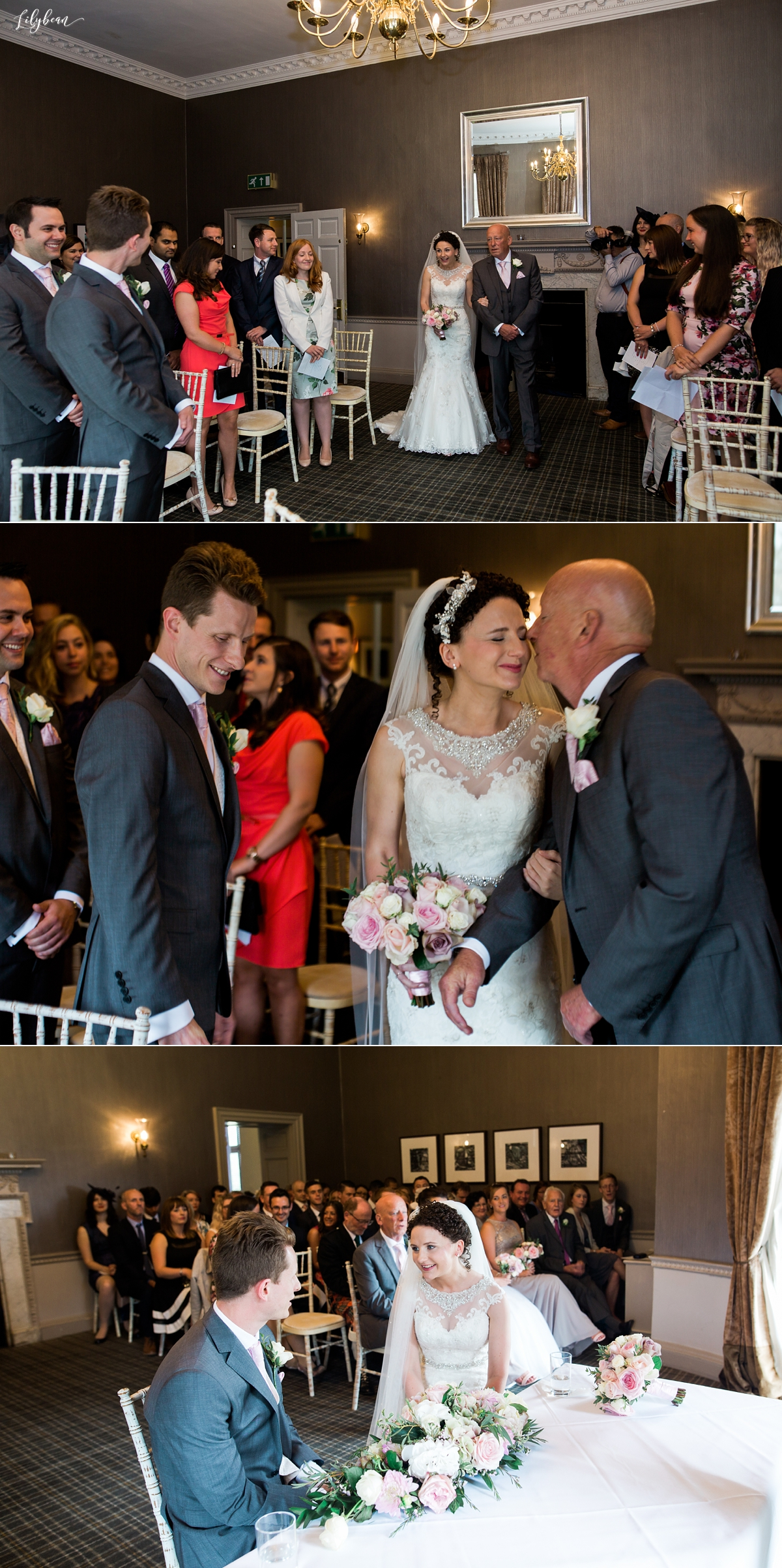 Wedding ceremony at Highfield Park