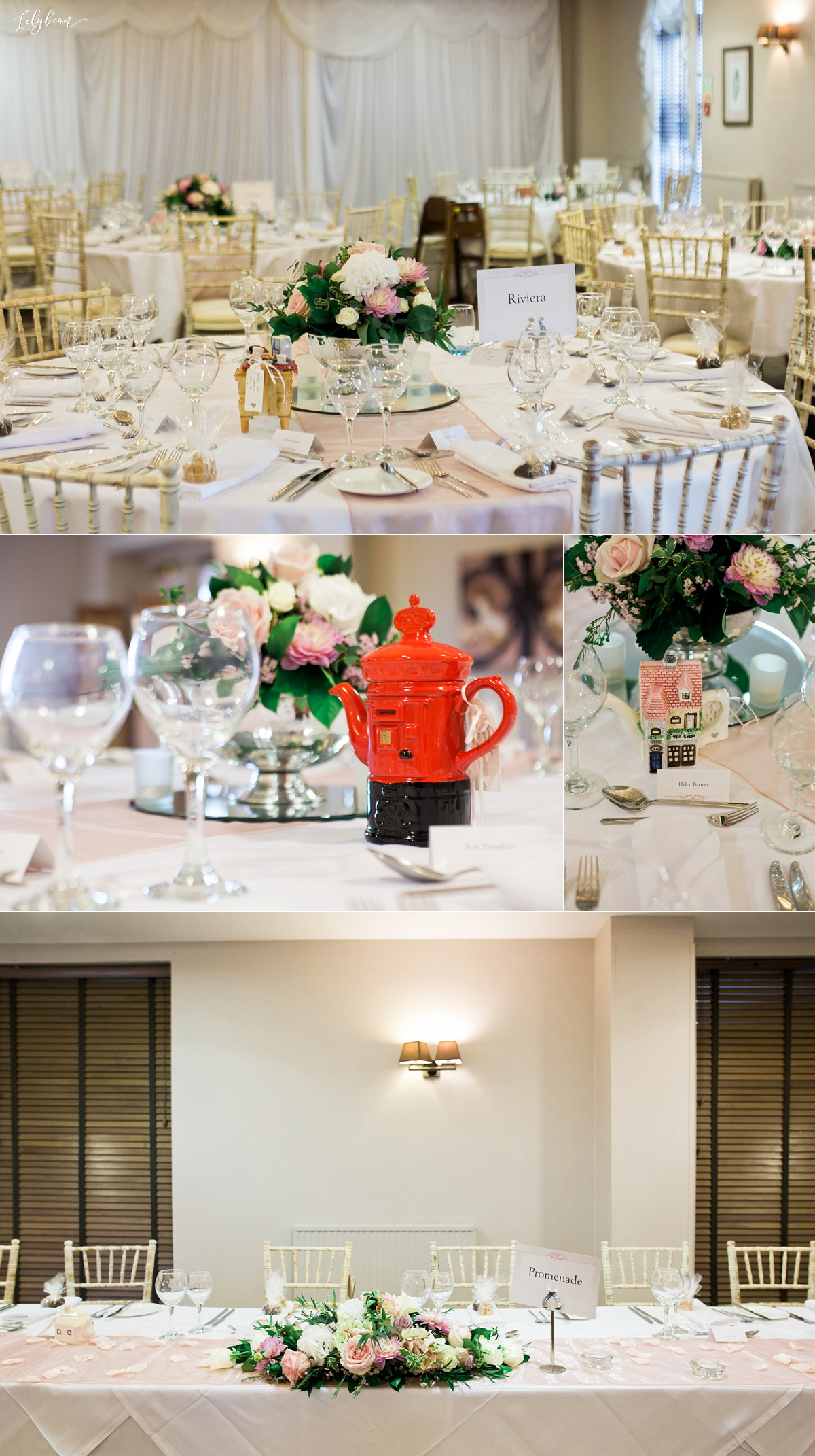 Wedding breakfast decor and interior
