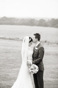 Fine art B&W of bride & groom