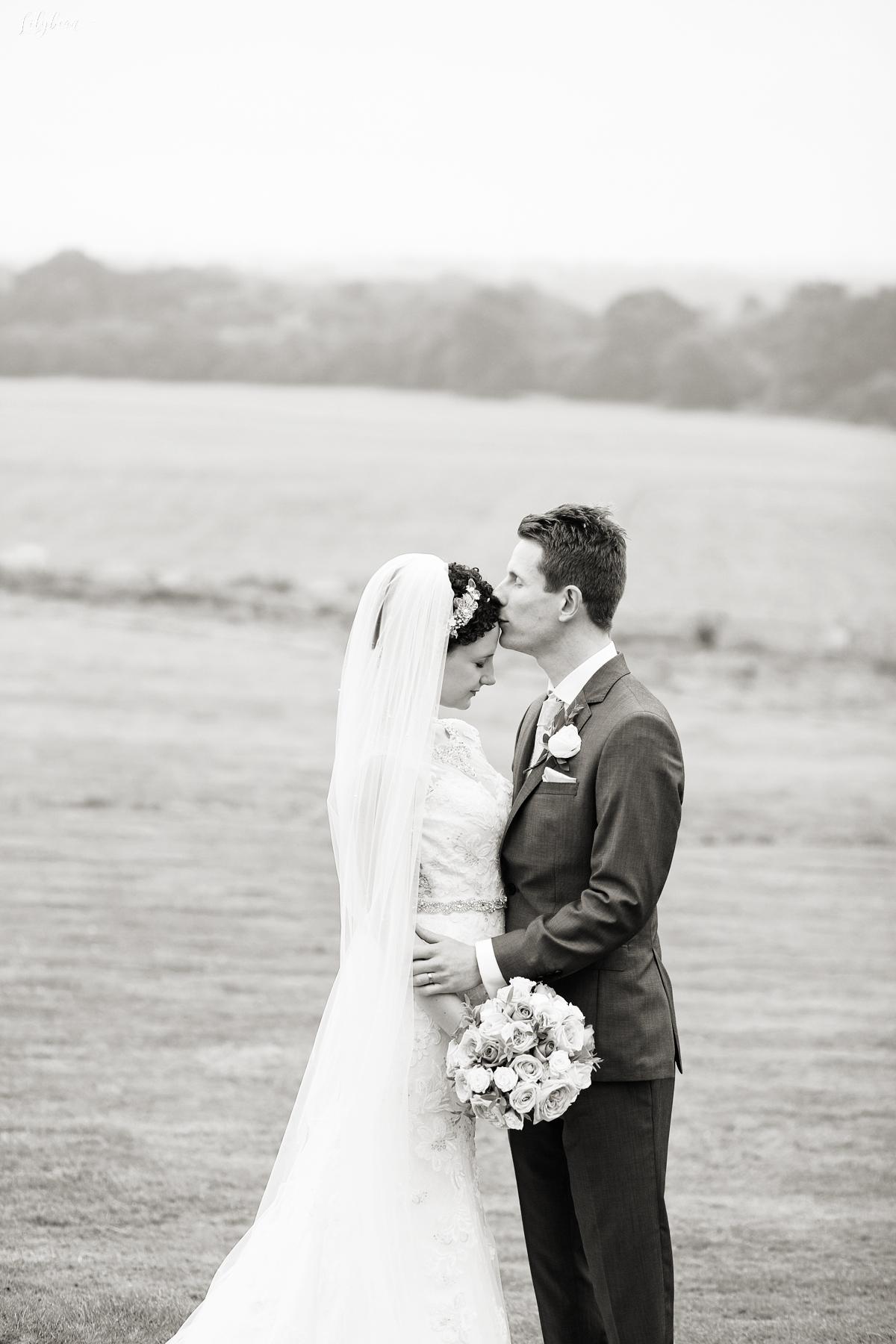 Fine art B&W of bride & groom