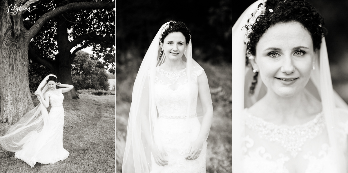 Beautiful bride portraits natural