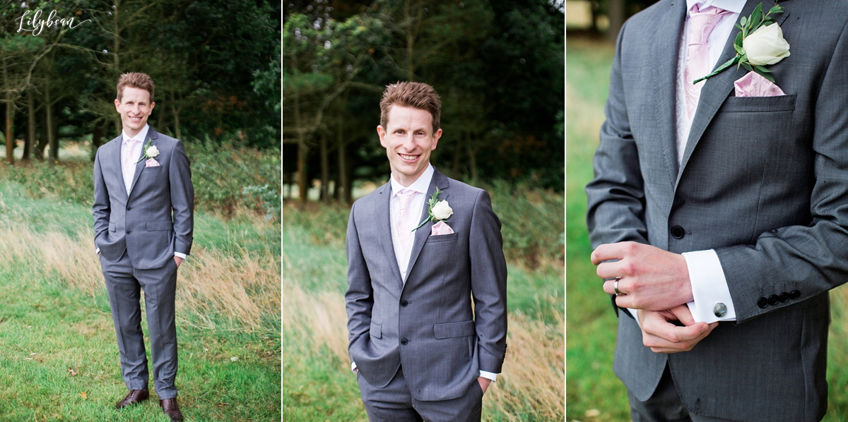 Groom portraits and cufflink detail
