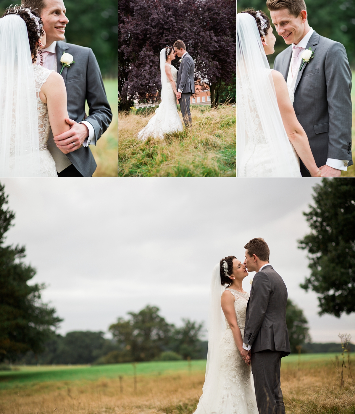 Bride & Groom portraits at golden hour