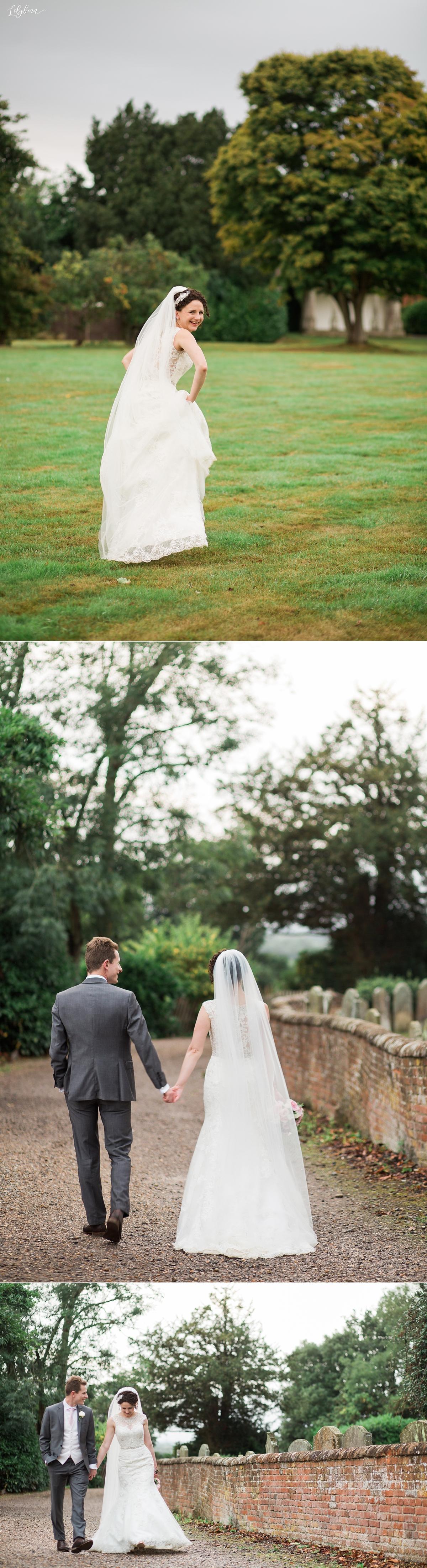 Casual walking shots of Bride & Groom