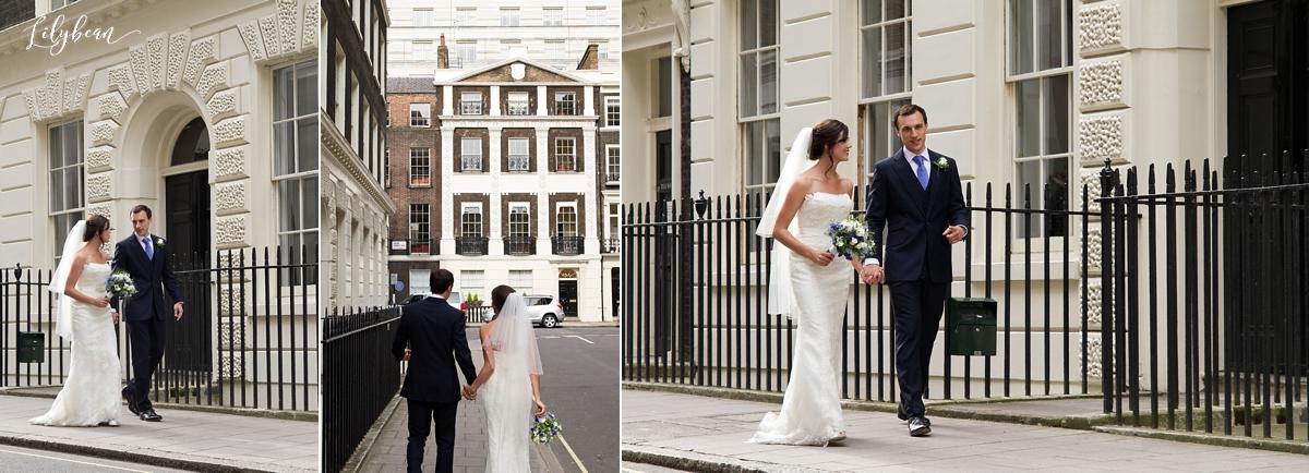 Casual wedding photos of Bride and Groom