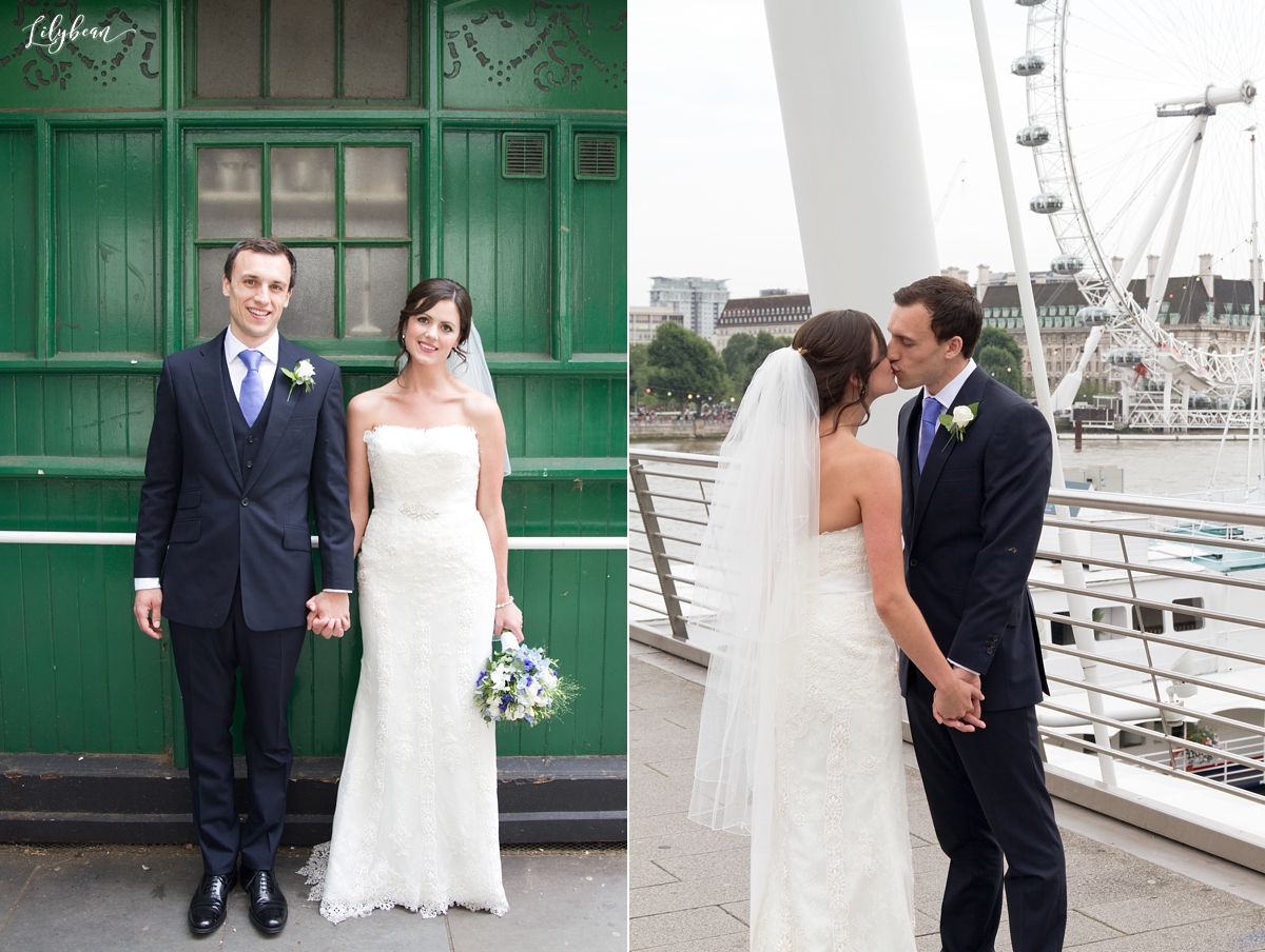 Views of London with Bride and Groom