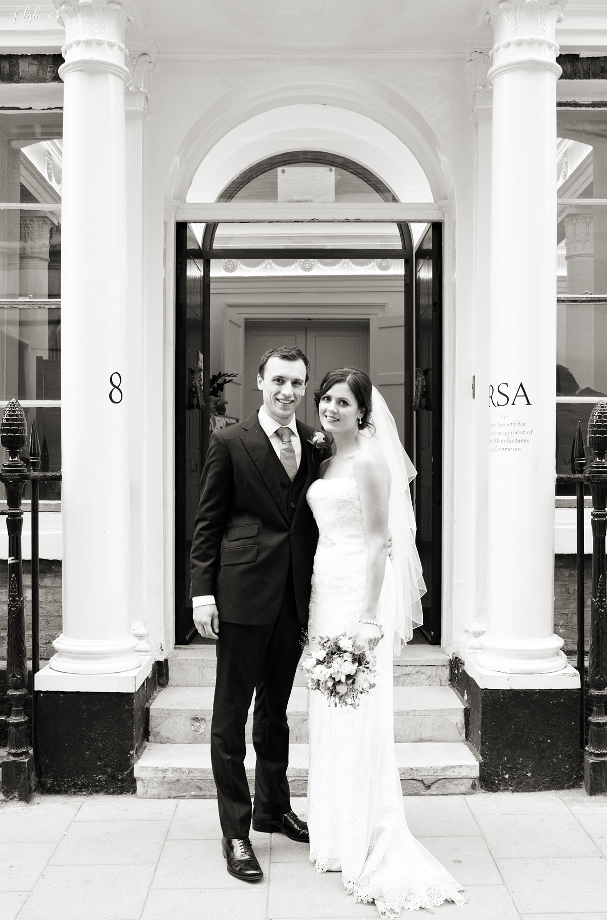 Bride & Groom at RSA House