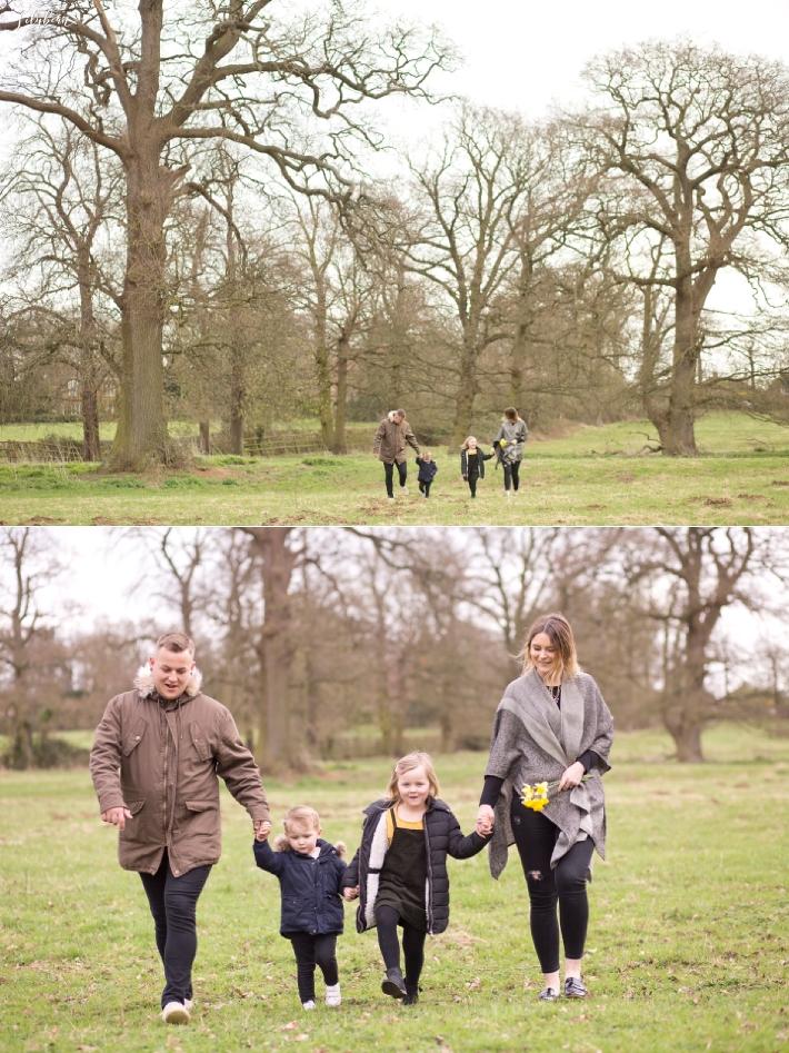 Pre-wedding shoot with children