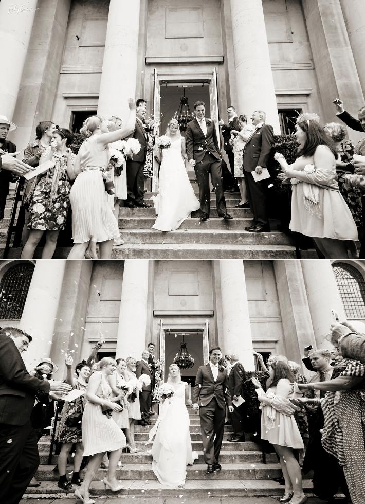 Confetti on the steps of One Marylebone