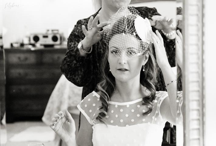 Bridal hair prep at The Savoy
