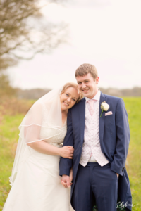 natural bride and groom portrait