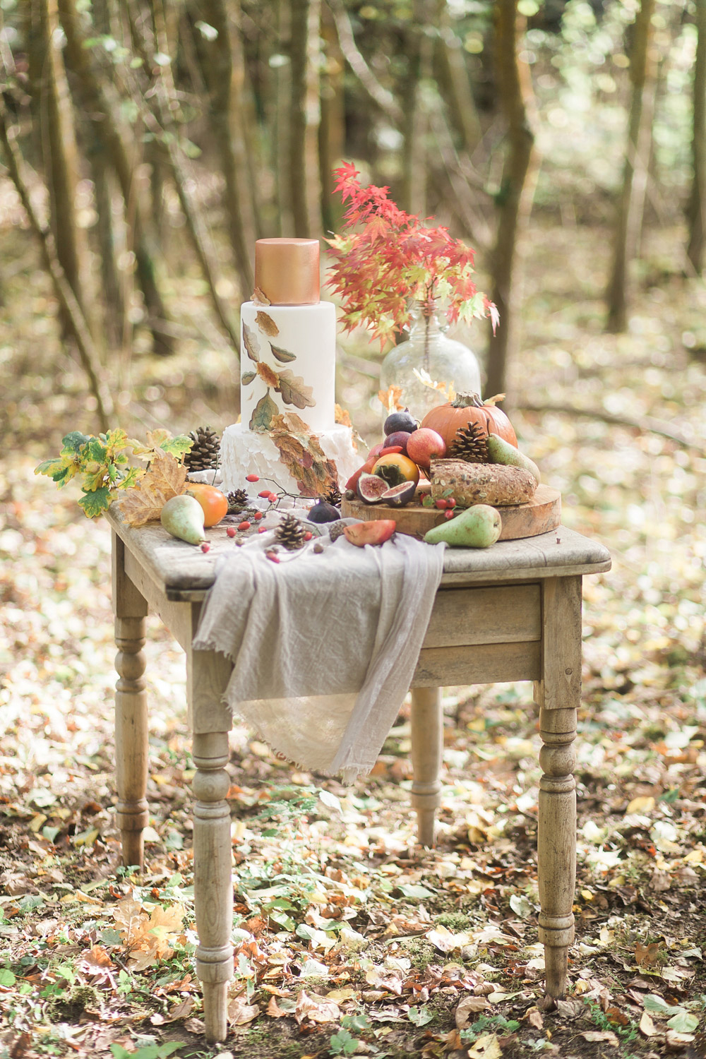 Fine Art Wedding Photography Styled Shoot Woodland Wedding Inspiration Autumn Lilybean Photography wedding decor