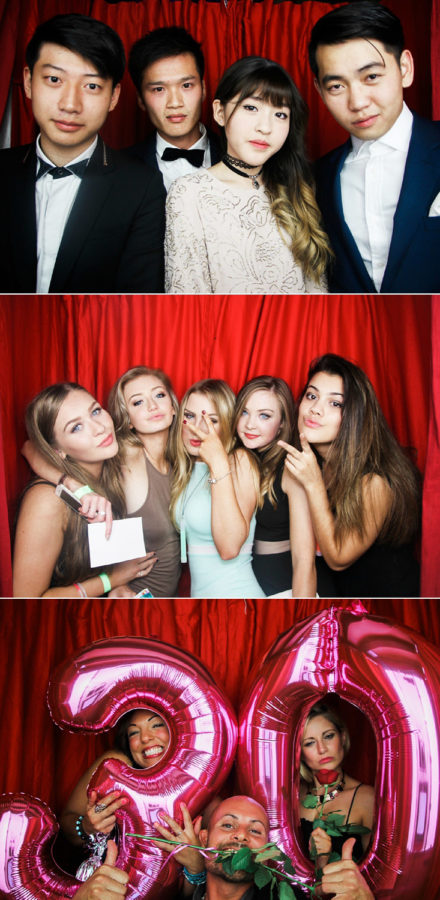 Classic Photobooth Hire Hampshire wedding guests