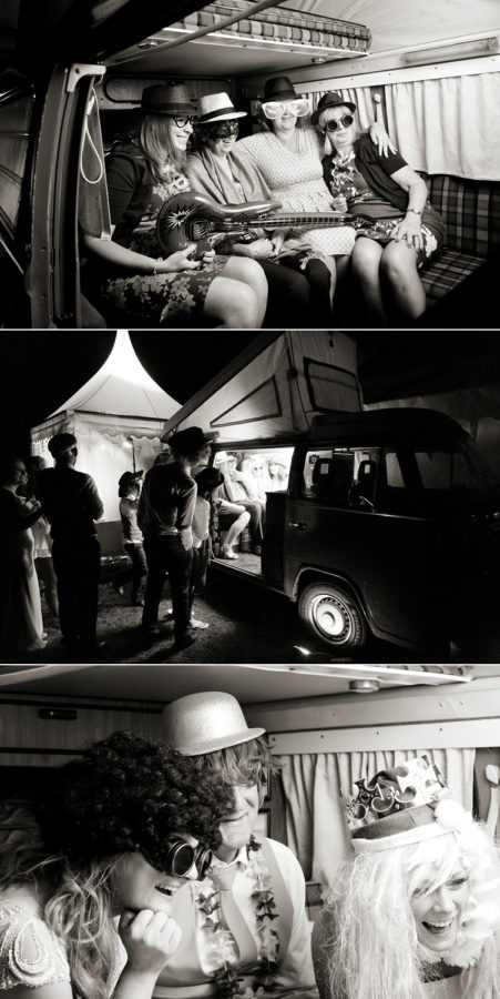 VW Camper Van Photobooth Booth Bus Hire nighttime shot