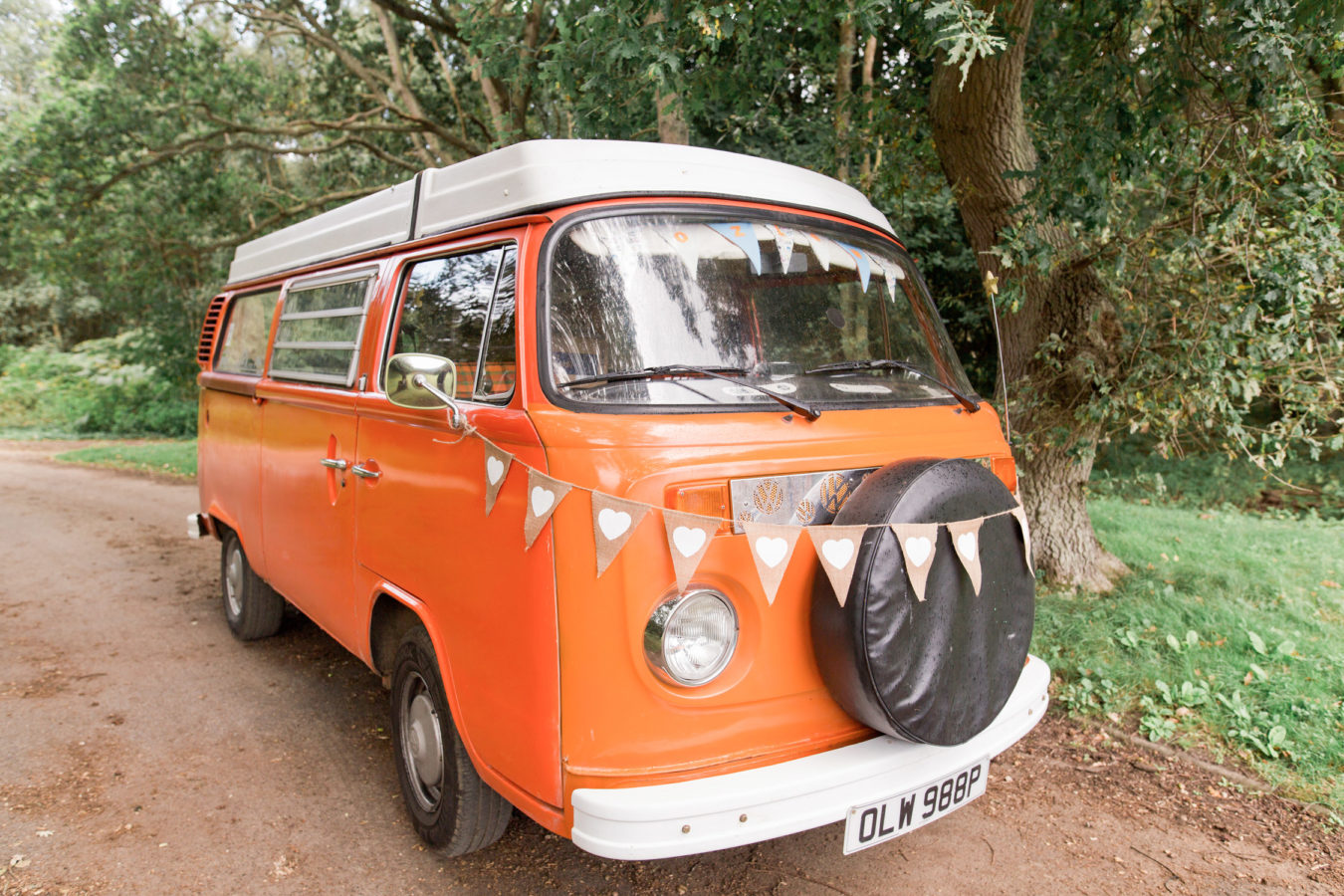 VW Camper Van Photobooth Booth Bus Hire outside