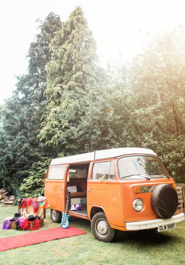 VW Camper Van Photobooth Booth Bus Hire set up